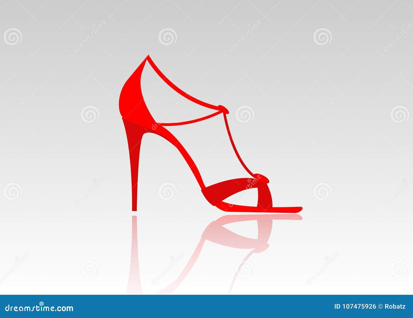 Pares de tacones altos rojos hermosos Zapatos de cuero de moda femeninos, aislados