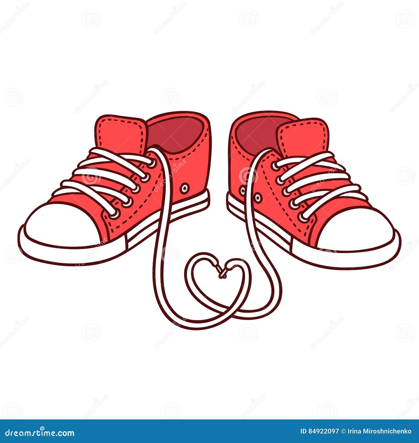 Pares de zapatillas de deporte rojas