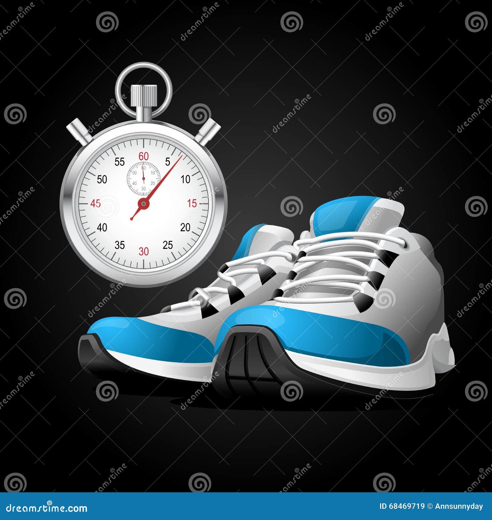 Zapatillas Cronómetro Pares De Y Imagen Archivo Deportivas ChQtsrxd