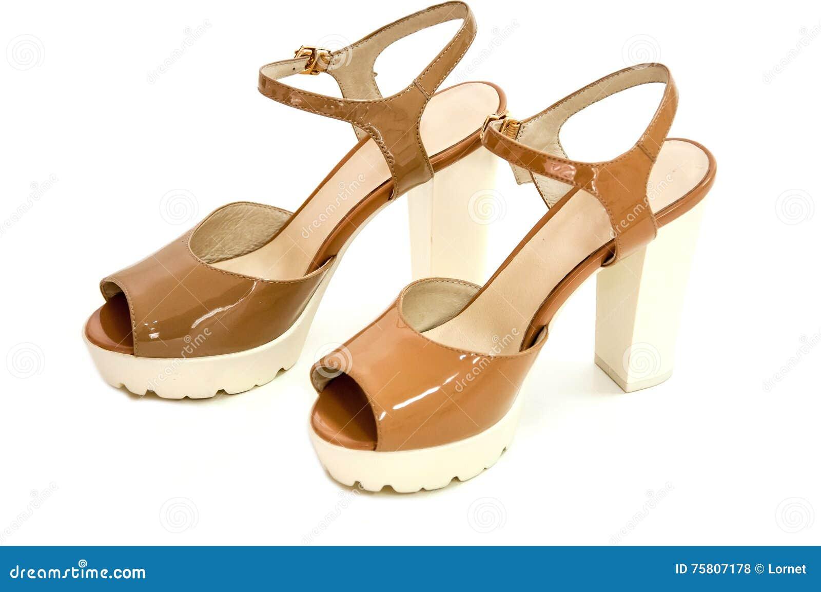 Beige Del Pares Para Charol En Zapatos De Alto Mujer El Tacón 80yvmNwOn