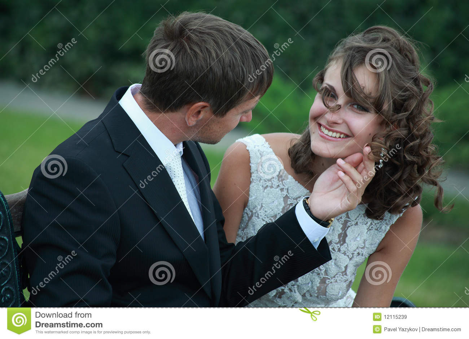 Pares del recién casado en amor