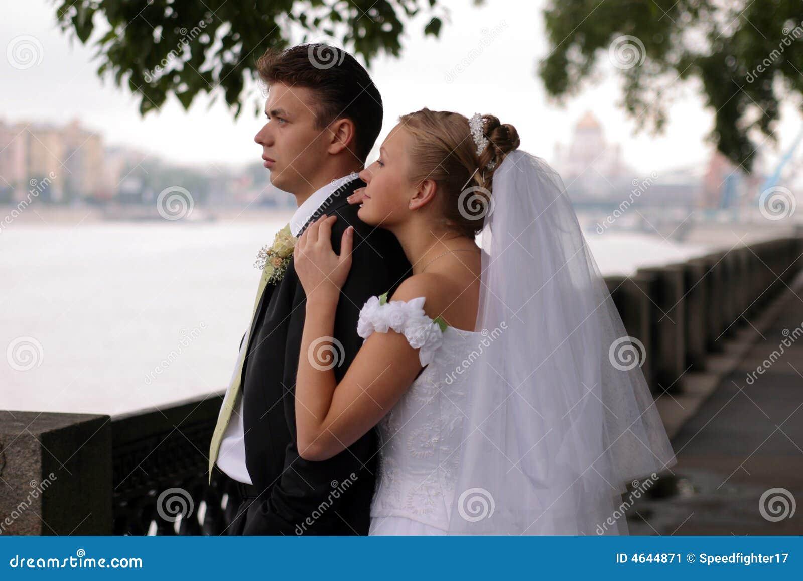 Pares do Newlywed no dia do casamento