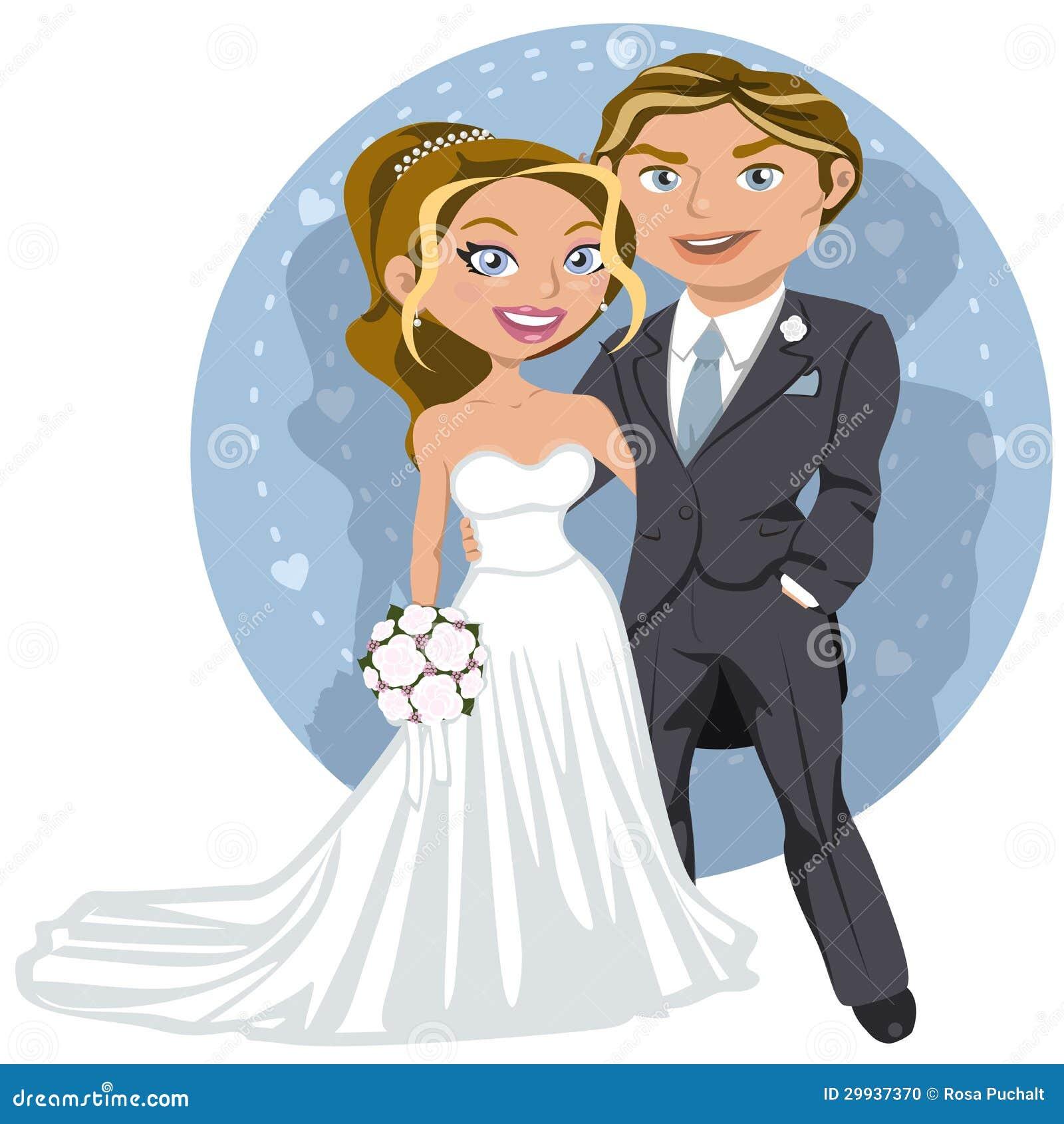 Pares jovenes de la boda