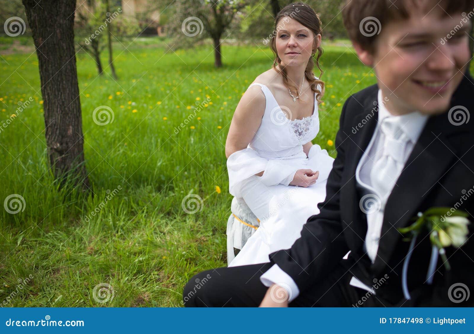 Pares novos do casamento
