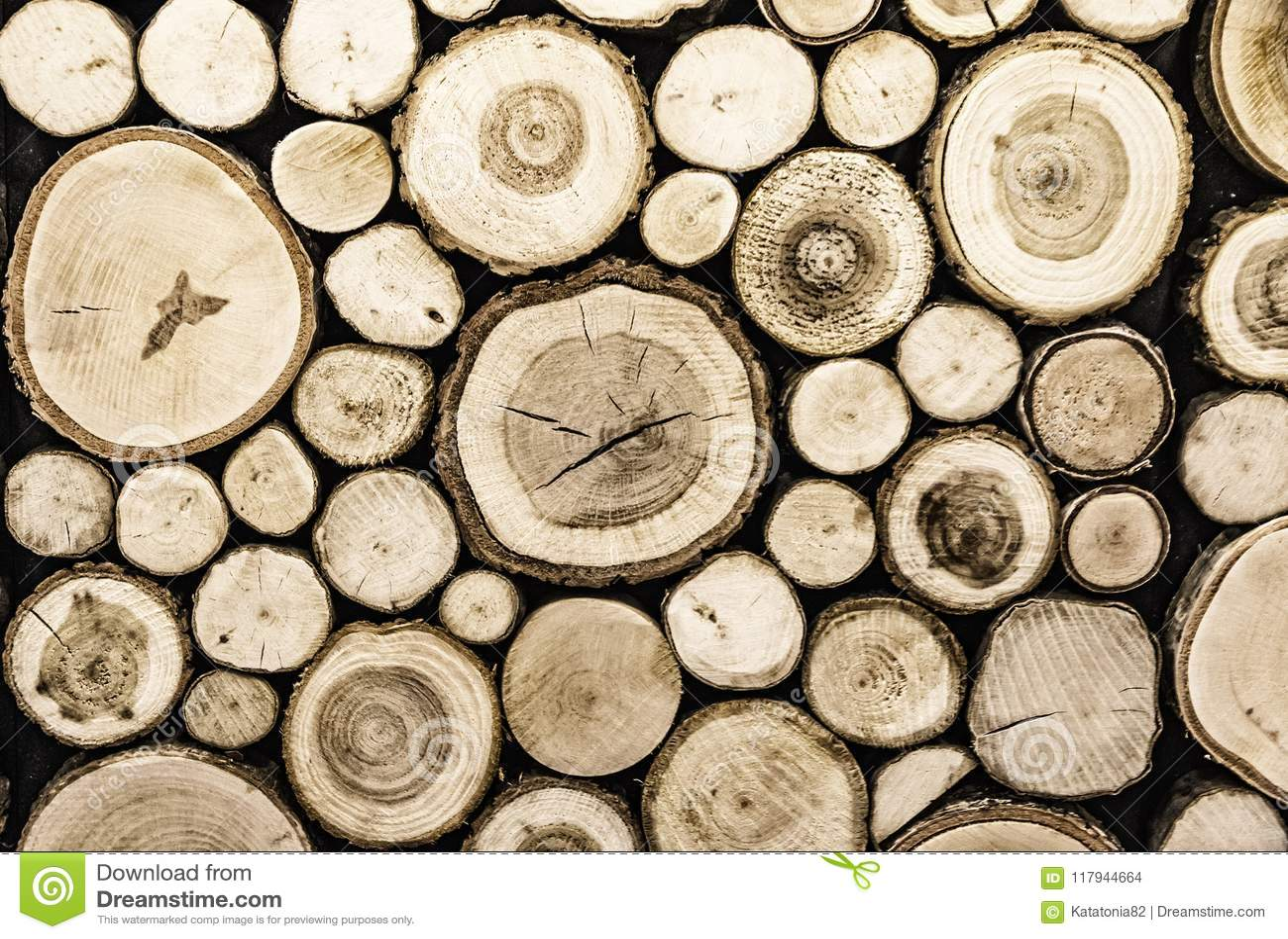 Parete con i pannelli decorativi di legno sfondo naturale fotografia
