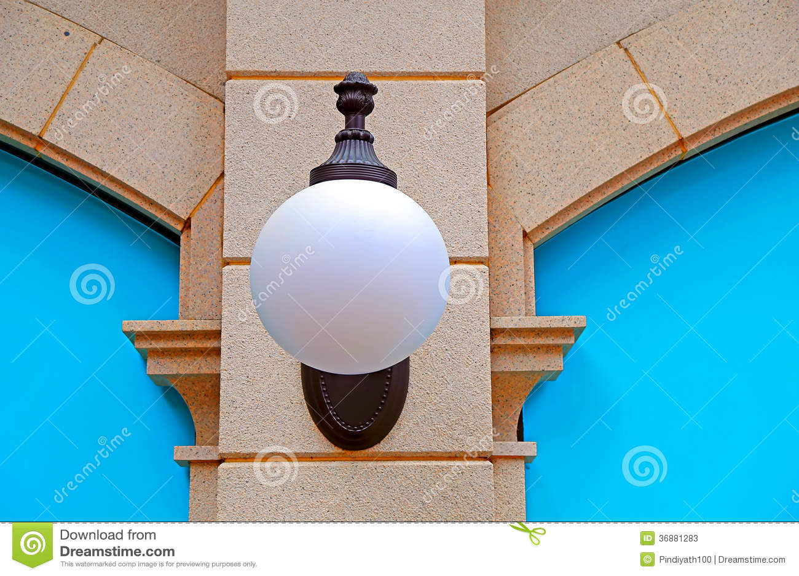 Download Parete con luce immagine stock. Immagine di costruzione - 36881283