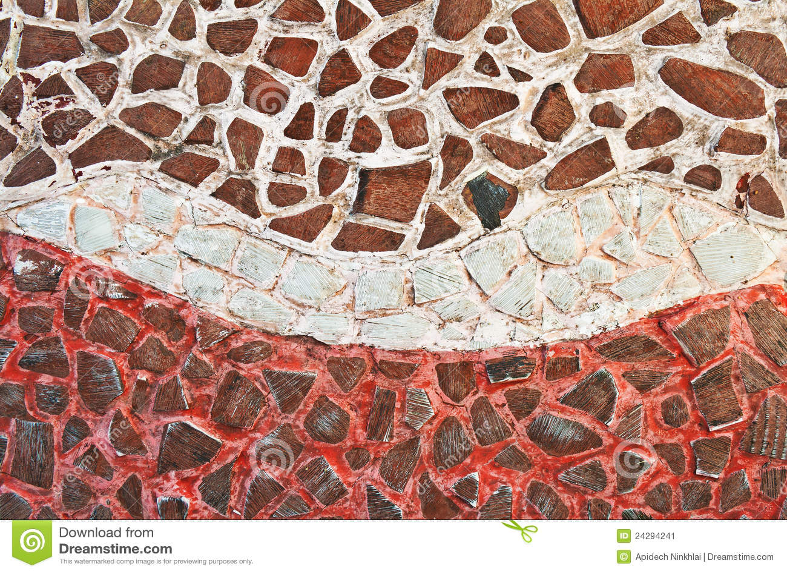 Immagini di riserva di mattonelle di mosaico rotte la sovranità