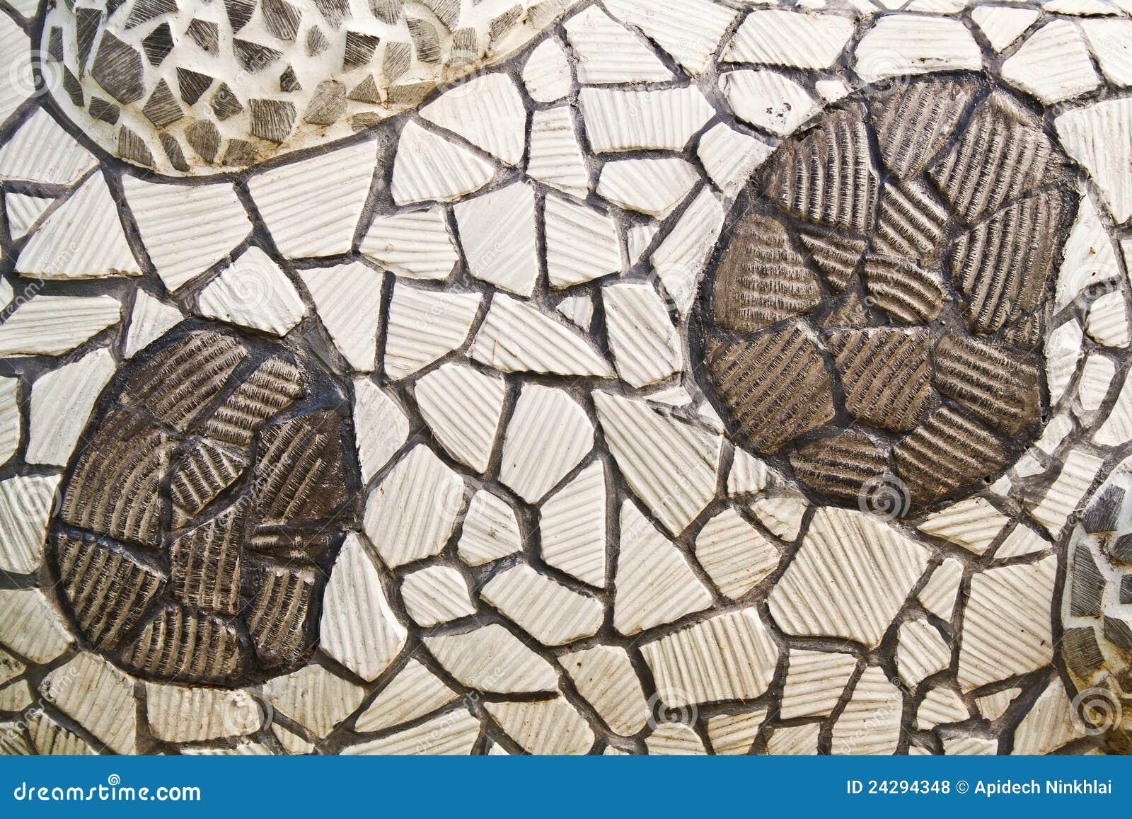 Parete Del Mosaico Dalle Mattonelle Di Ceramica Rotte