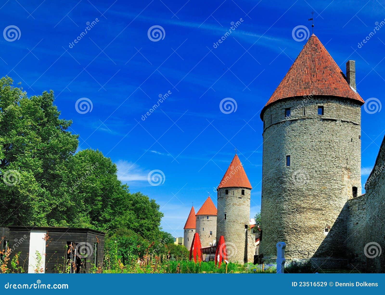 Parete della città di Tallinn, Estonia