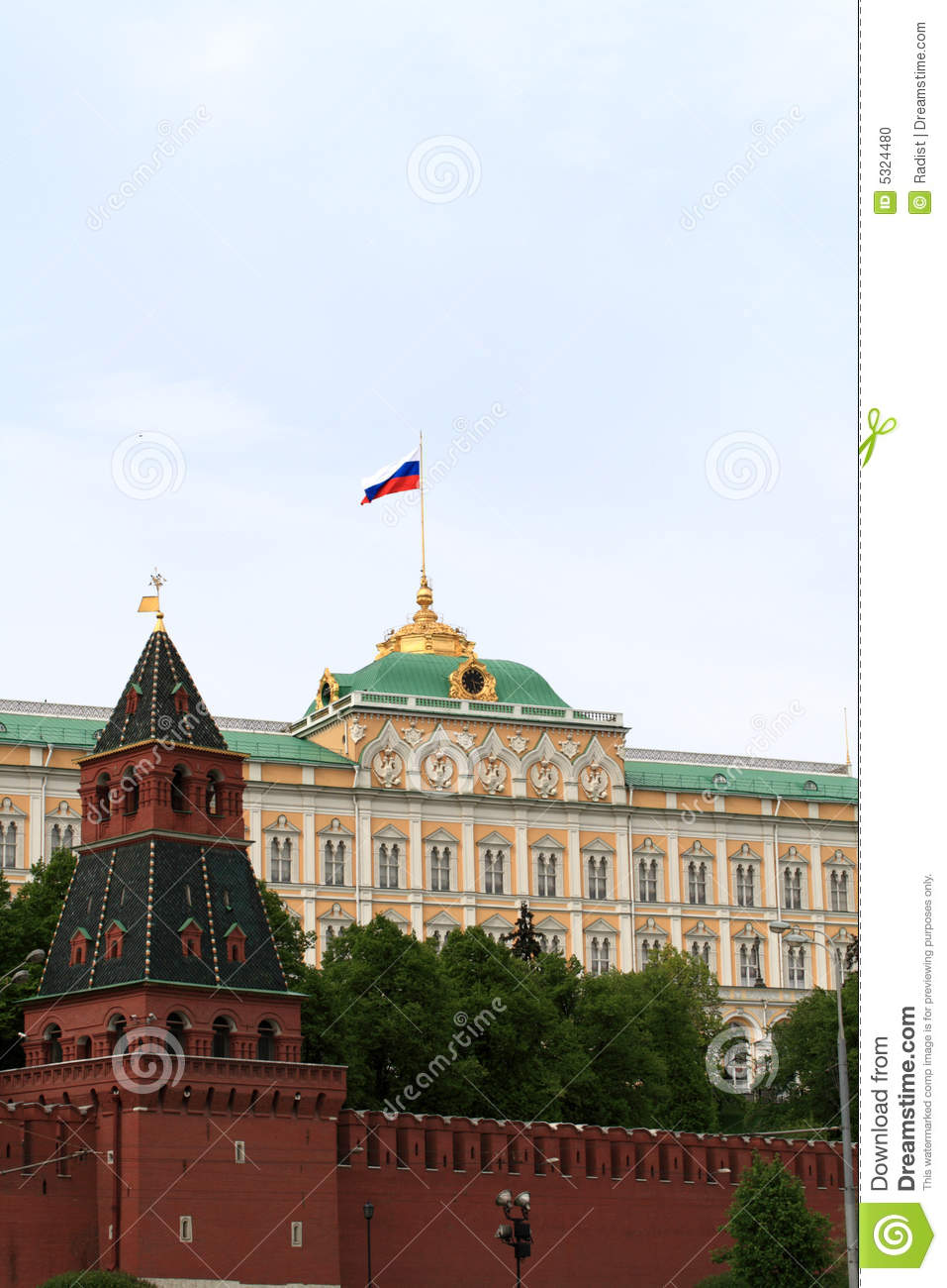 Download Parete di Kremlin fotografia stock. Immagine di cityscape - 5324480