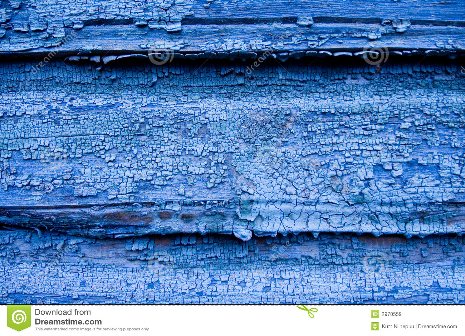 Parete di legno blu incrinata