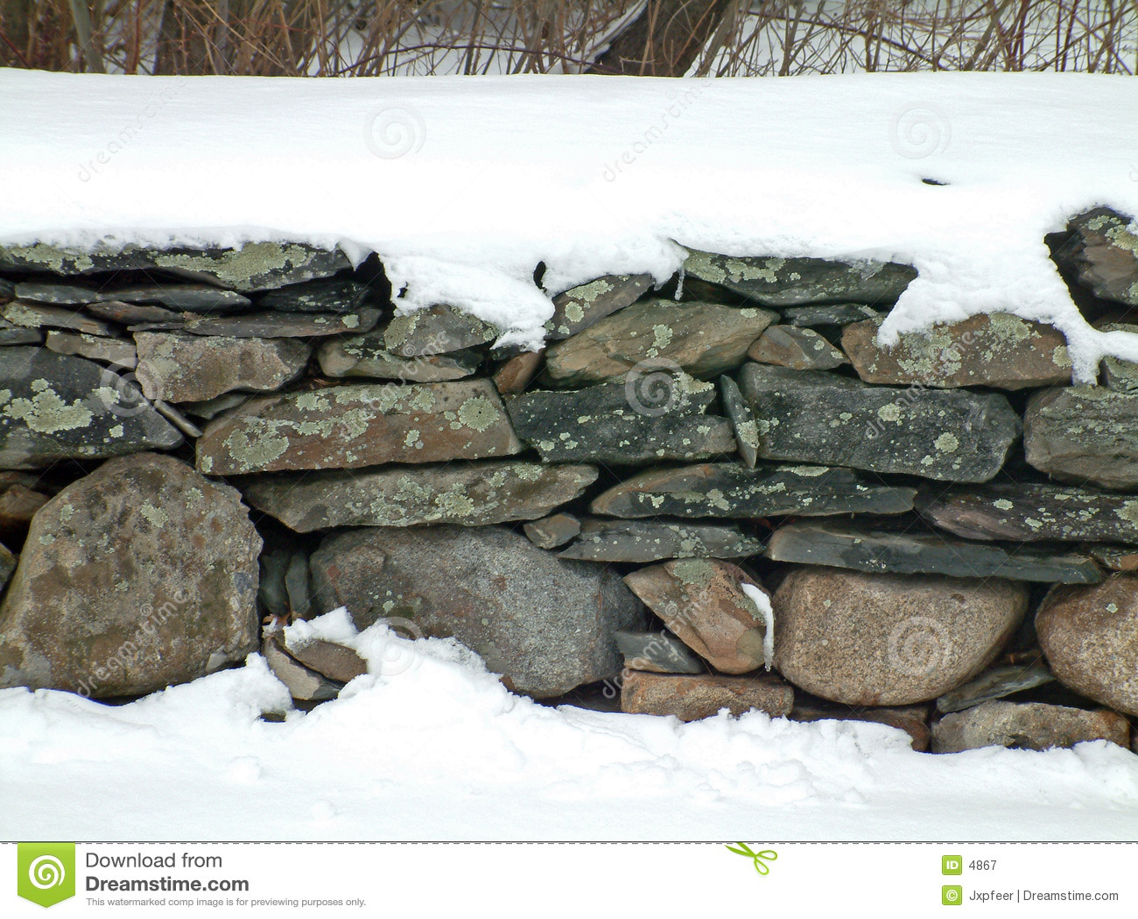 Parete di pietra 2 dello Snowy