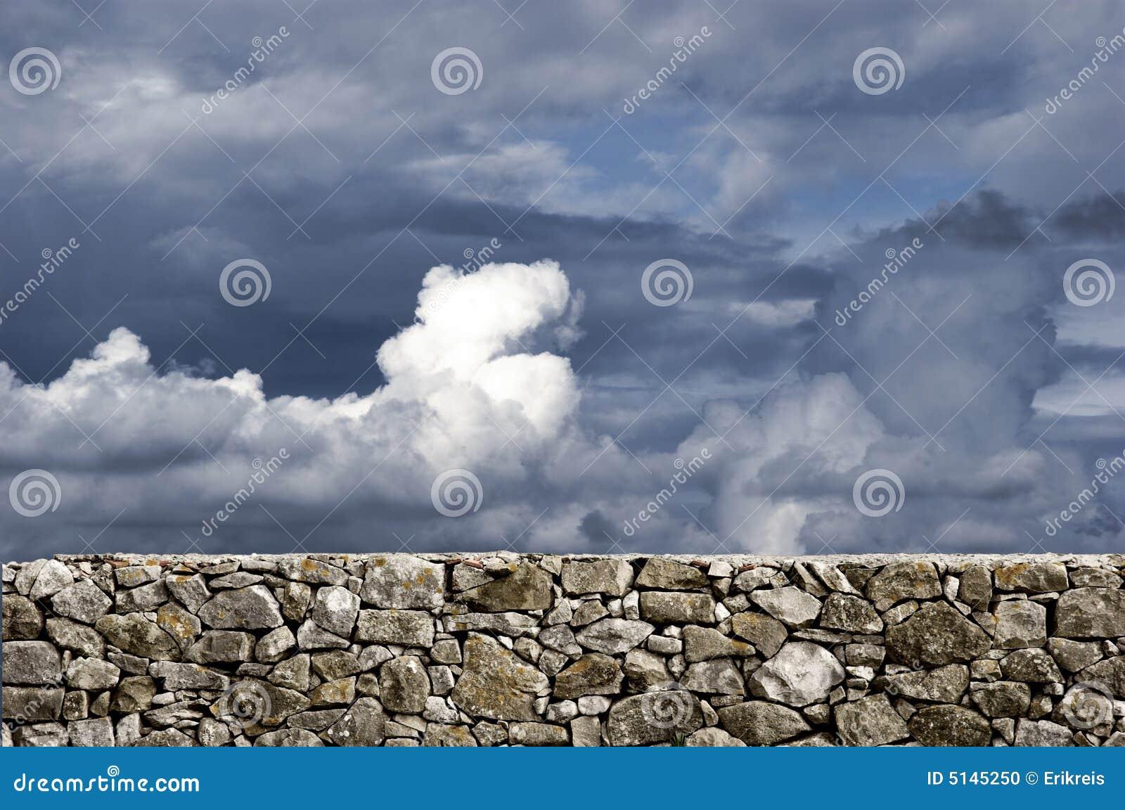 Parete di pietra fotografia stock immagine di bellezza - Parete di pietra ...