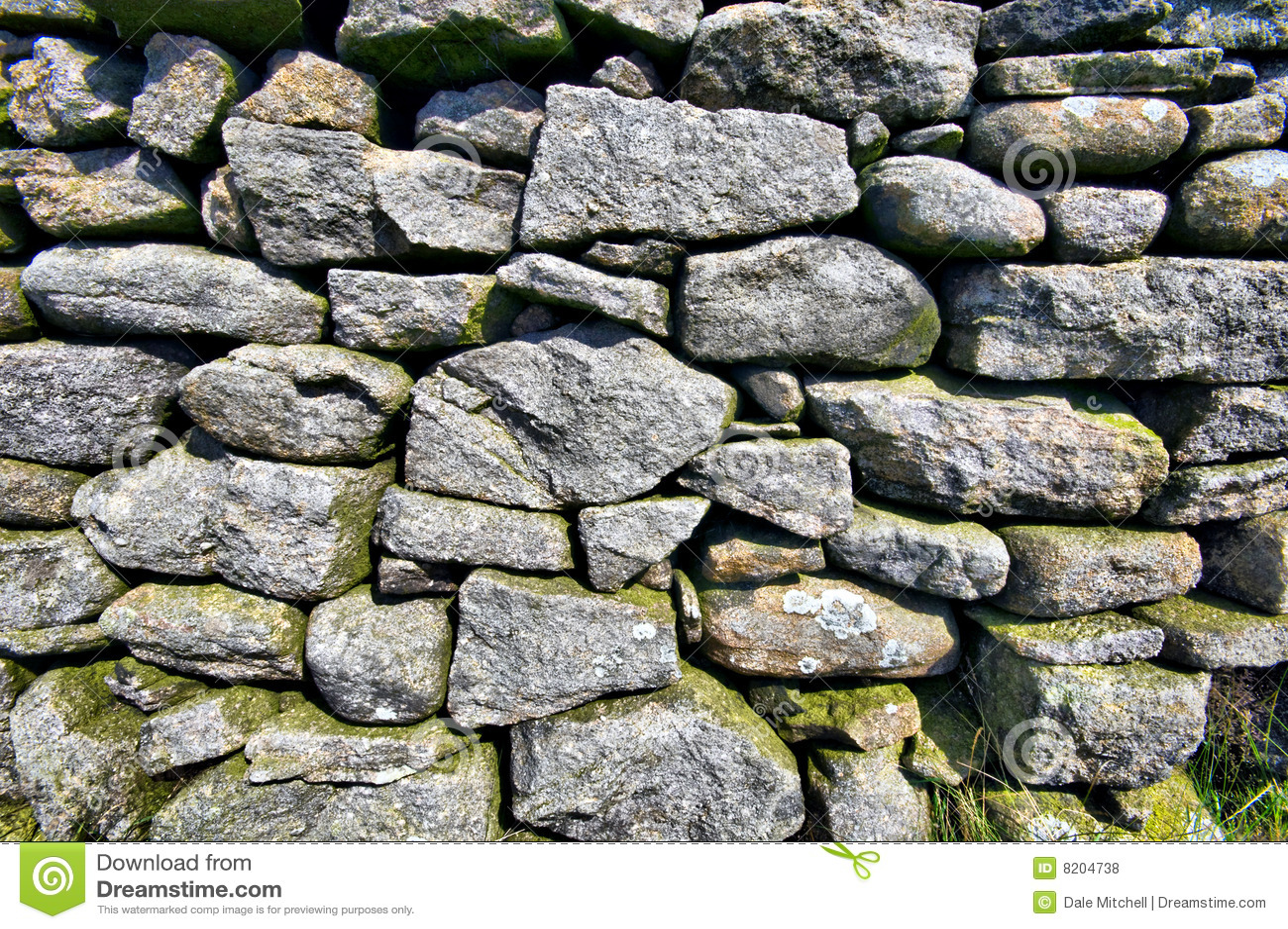 Parete di pietra asciutta inglese fotografia stock - Parete di pietra ...