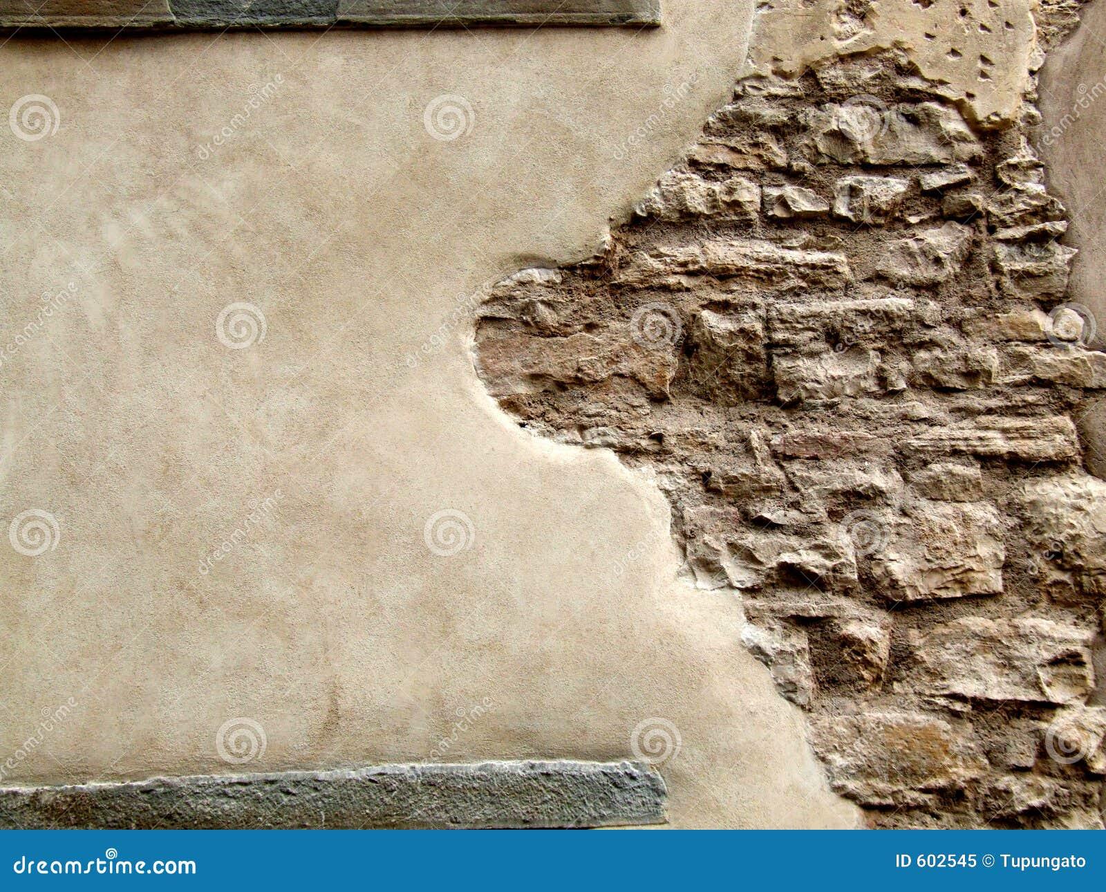 Parete di pietra con l 39 intonaco della sbucciatura immagine - Parete di pietra ...