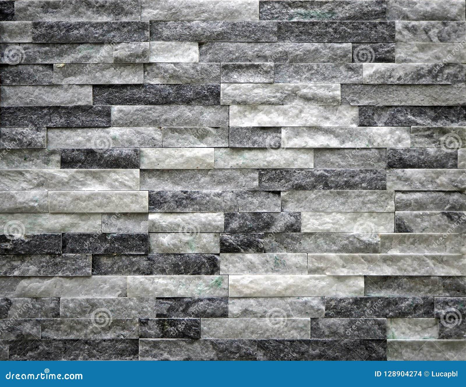 Muro Fatto In Pietra parete di pietra del rivestimento fatta dei mattoni della