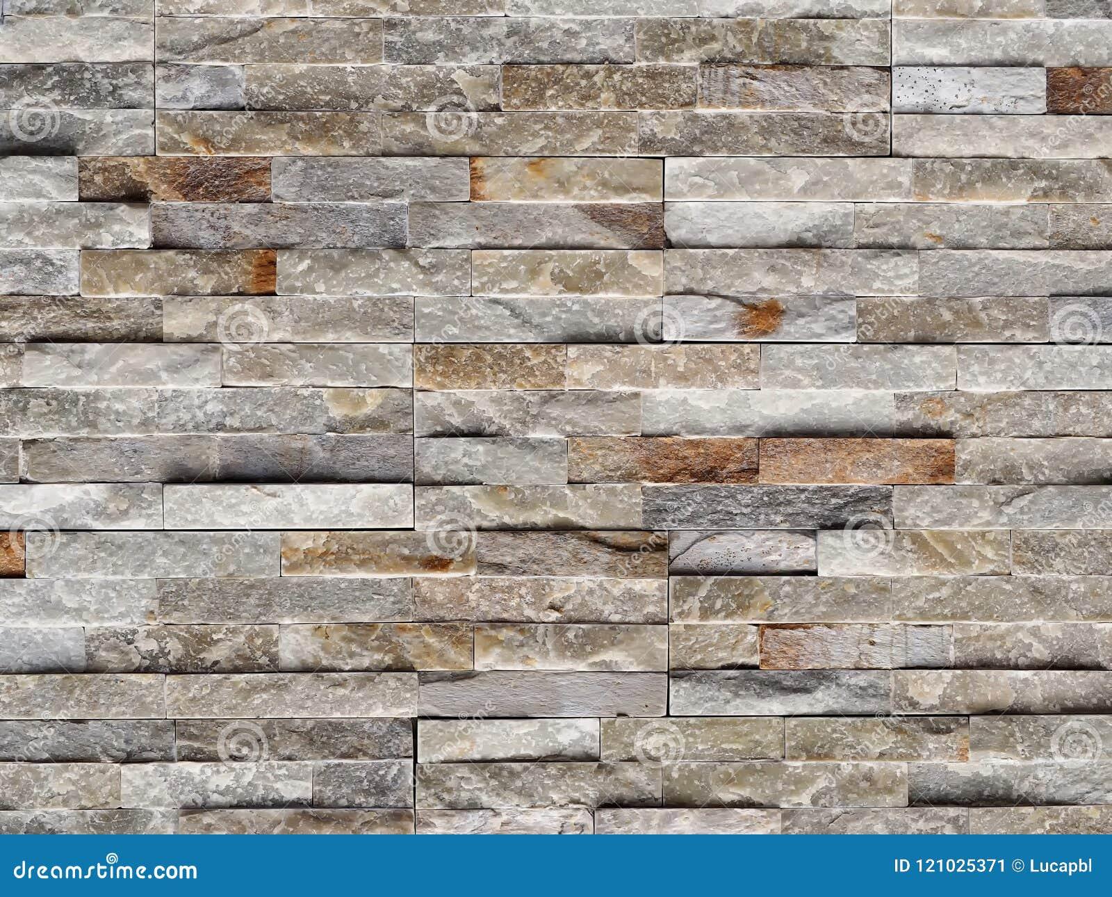 Parete di pietra del rivestimento fatta delle mattonelle della