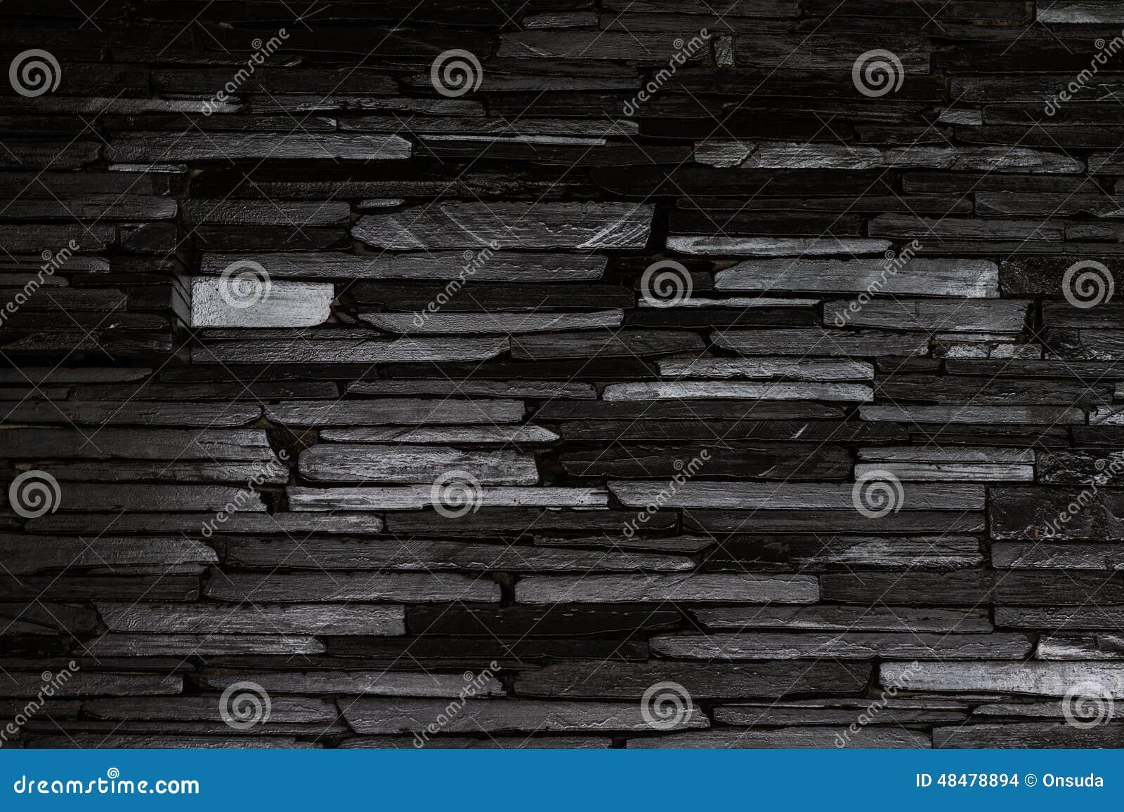 Parete di pietra nera fotografia stock. Immagine di nero - 48478894