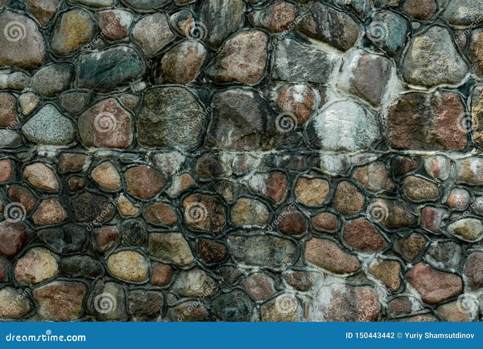Parete di pietra sulla costa del Mar Baltico