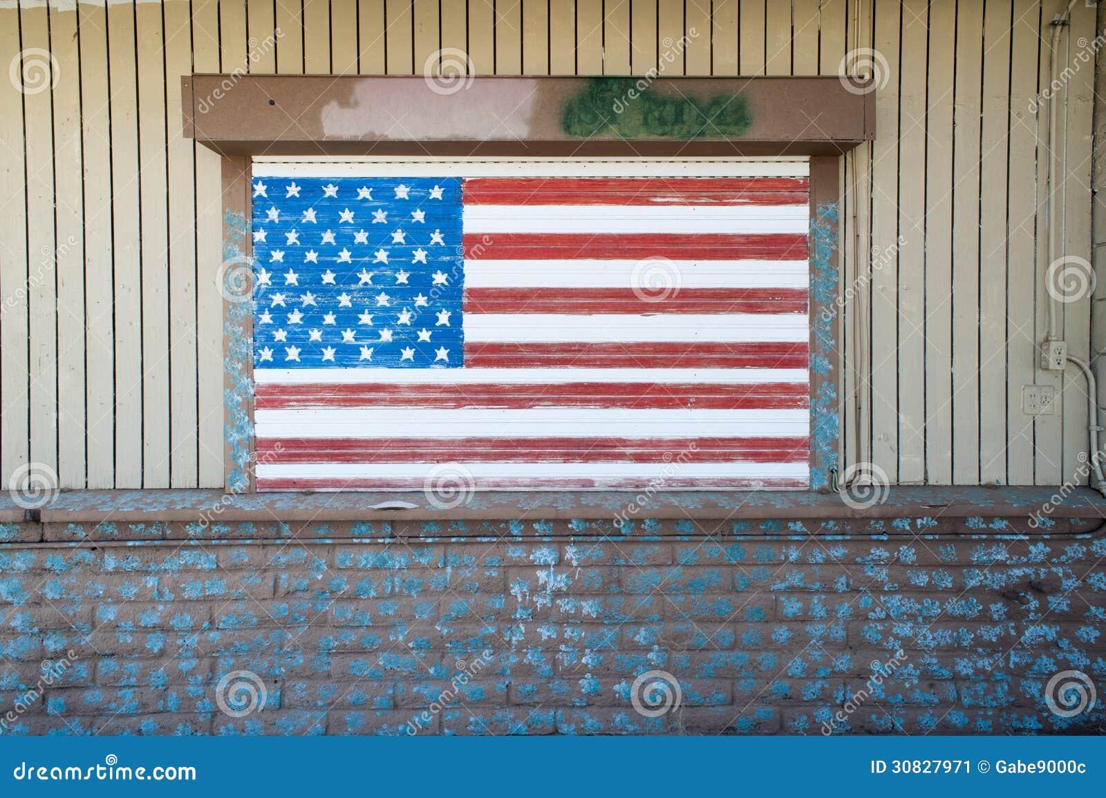 Parete di struttura della bandiera americana