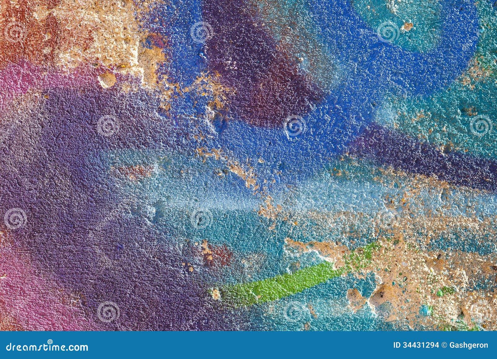 Parete Dipinta Nei Colori Pastelli Differenti. Immagini Stock - Immagine: 344...