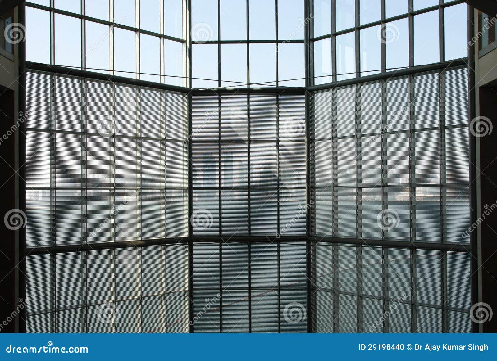 doha qatar 26 ottobre una vista dalla parete divisoria di vetro con l ...