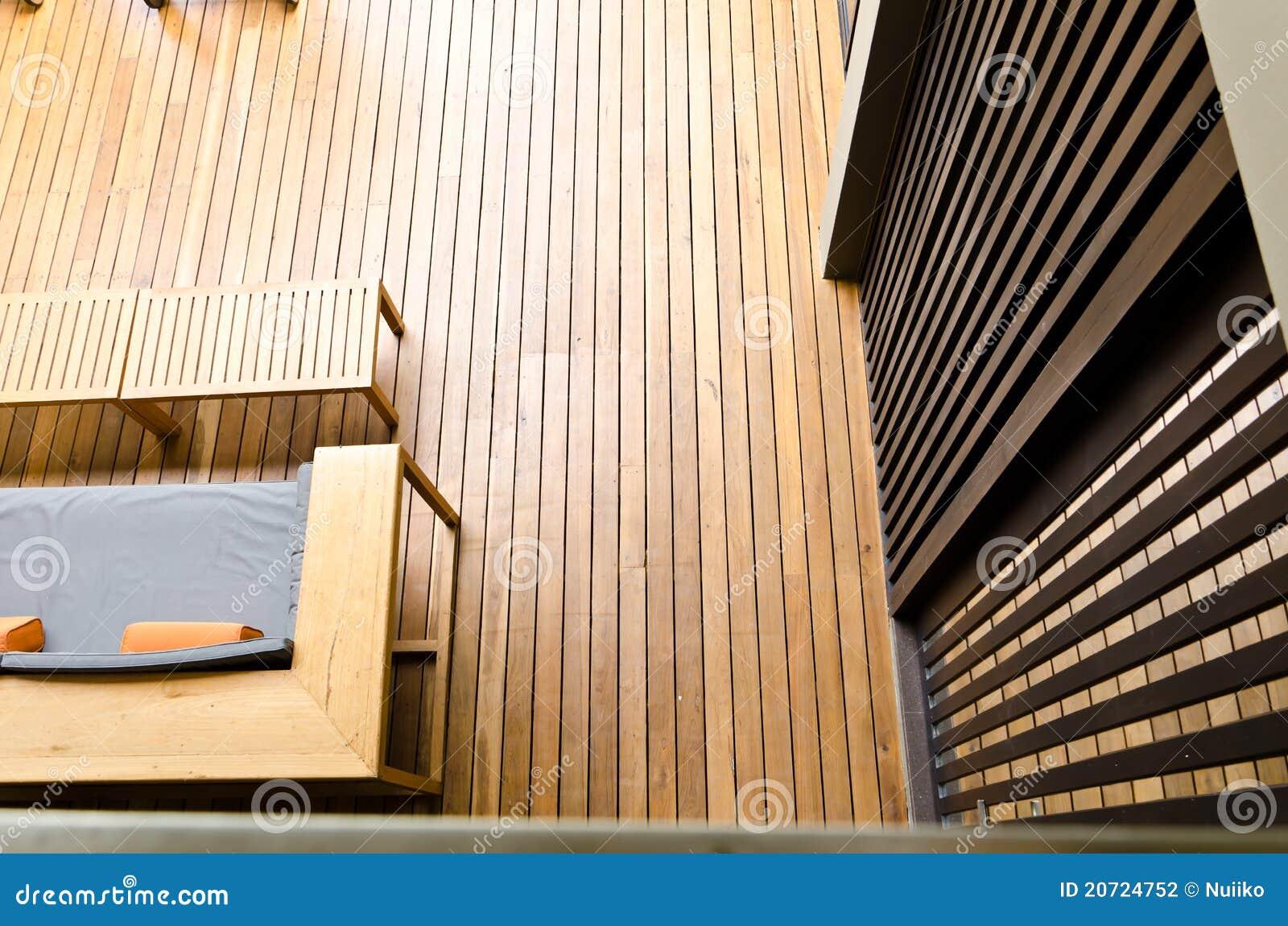 Parete e pavimento di legno struttura di esposizione - Parete di legno ...