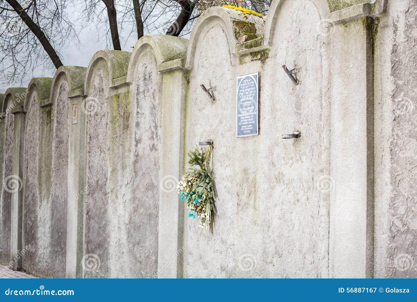 Parete ebrea del ghetto, Cracovia, Polonia