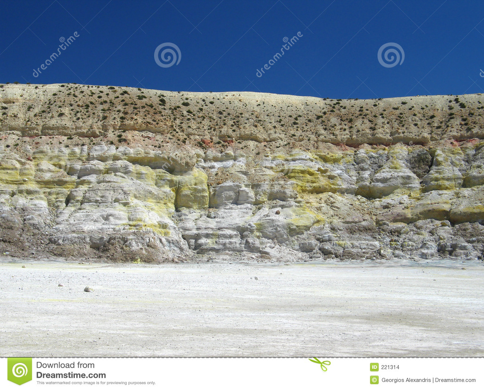 Parete laterale del cratere