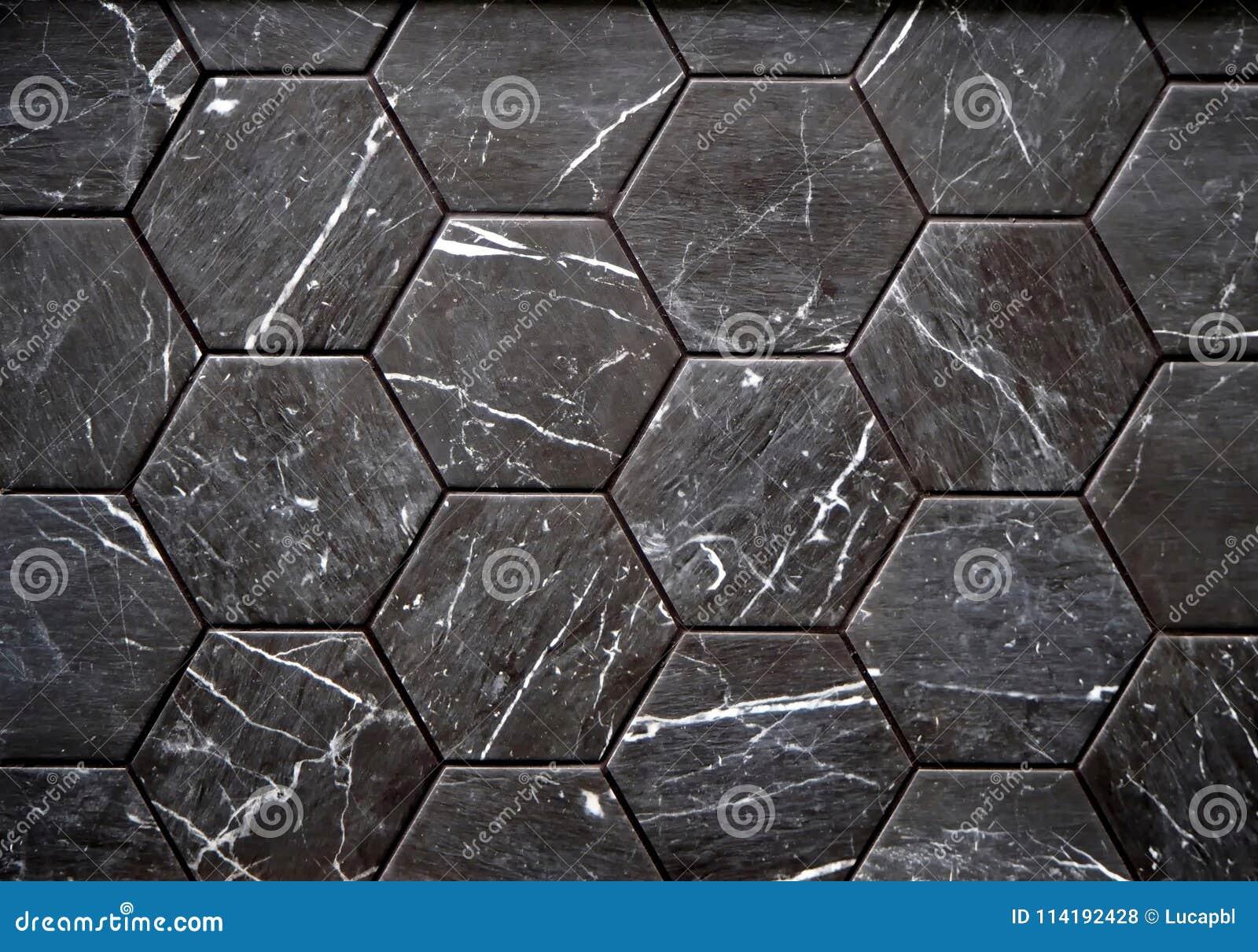 Parete o piastrelle per pavimento fatte della pietra nera con le