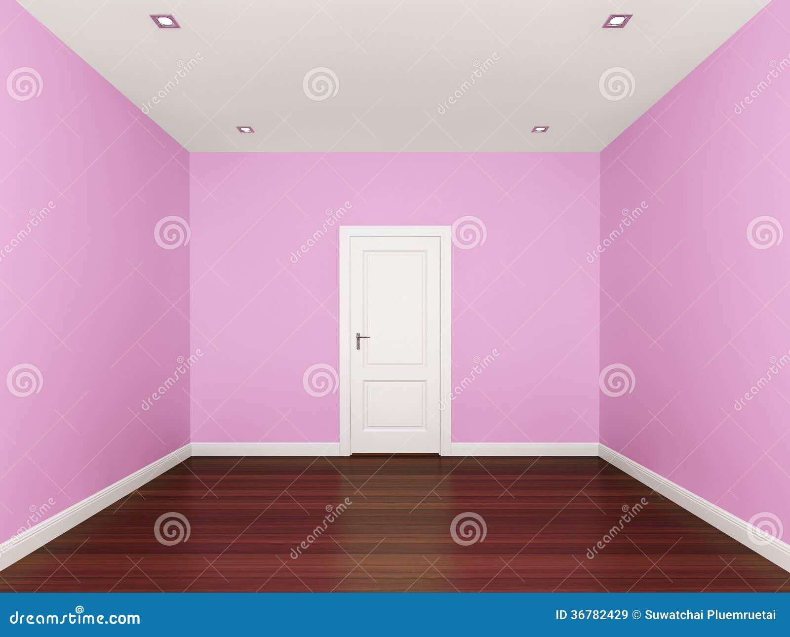 Parete Rosa In Una Stanza Vuota Illustrazione di Stock - Immagine: 36782429