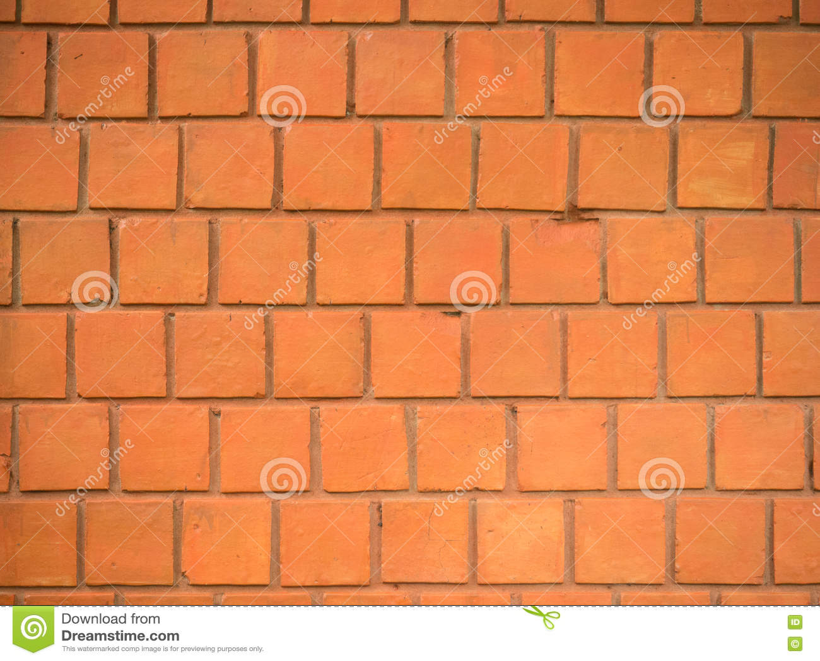 parete rossa mattoni quadrati fotografia stock immagine