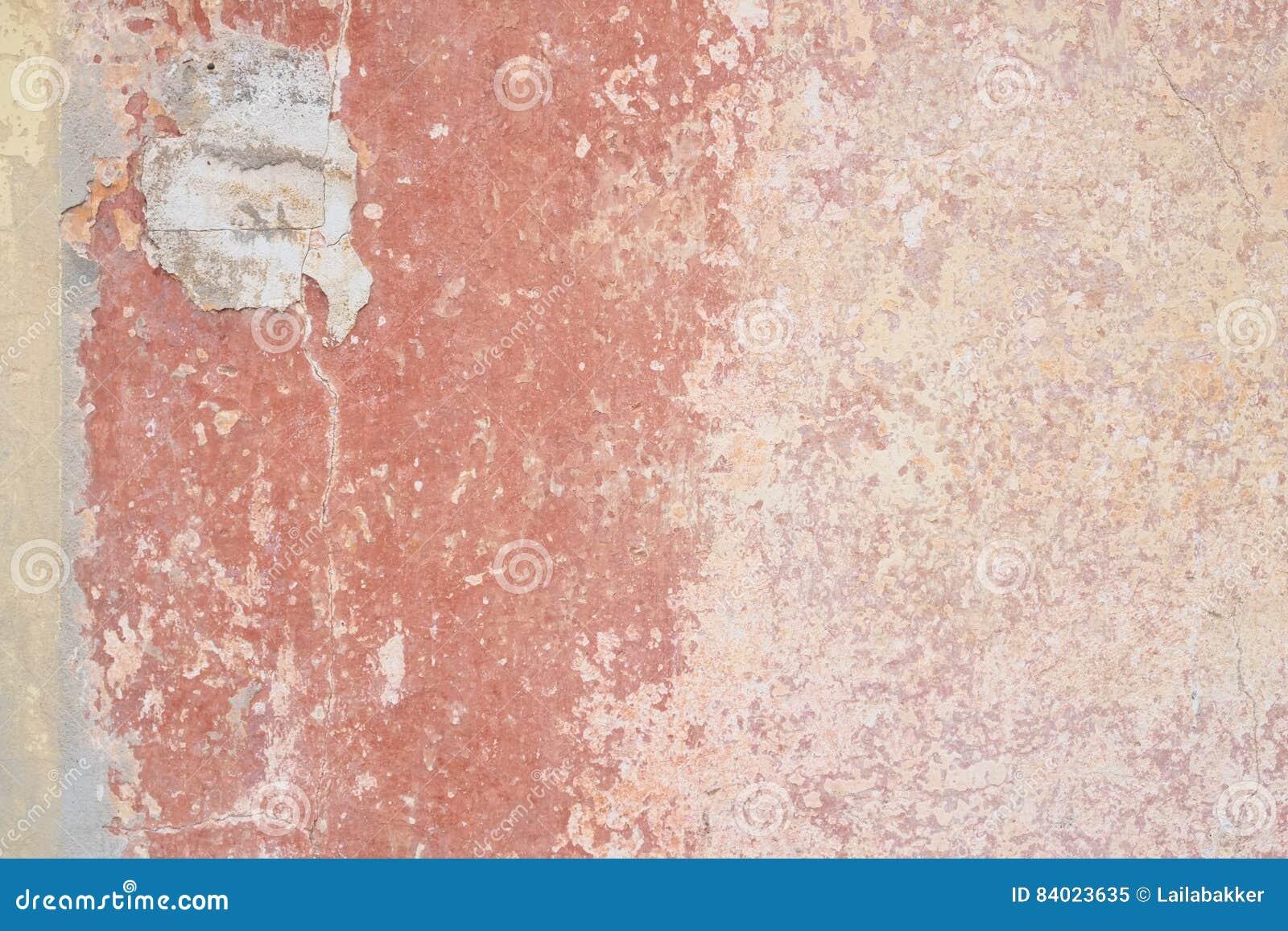 Parete Stagionata Con I Colori Arancio E Rosa Di Color Salmone ...