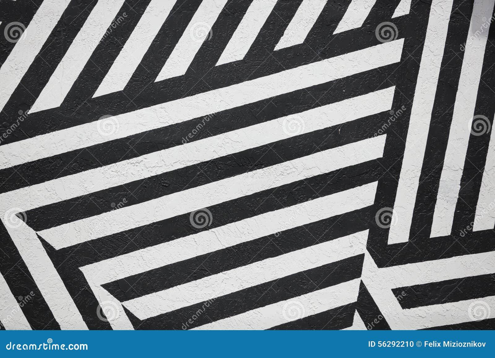Pareti A Strisce Bianco E Nero : Parete a strisce in bianco e nero fotografia stock immagine di
