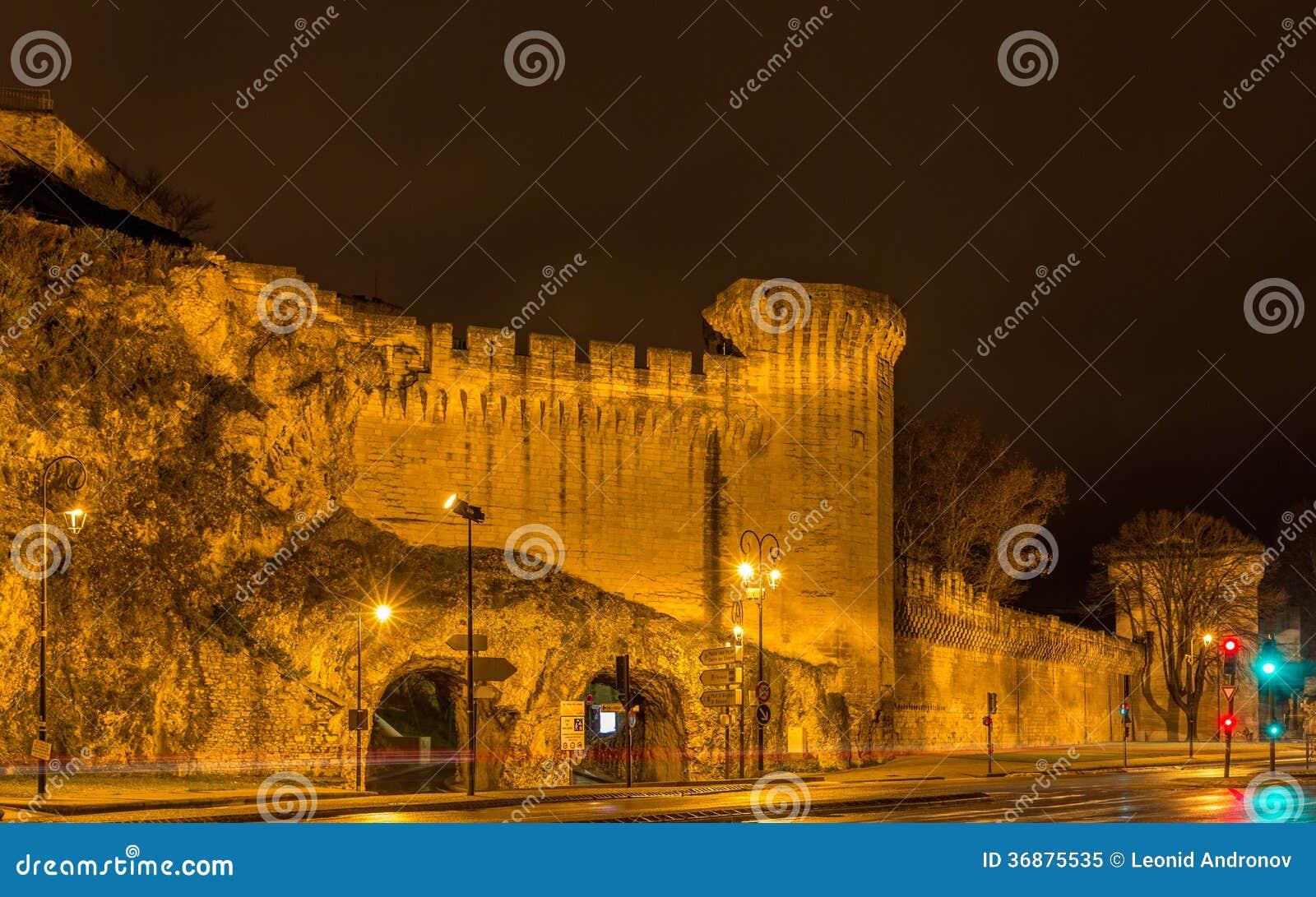 Download Pareti Difensive Di Avignone, Un Sito Di Eredità Dell'Unesco In Francia Immagine Stock - Immagine di fortress, storico: 36875535