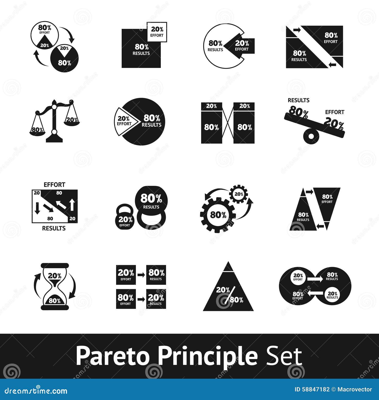 Pareto diagram set stock vector illustration of percentage 58847182 pareto diagram set pooptronica Choice Image