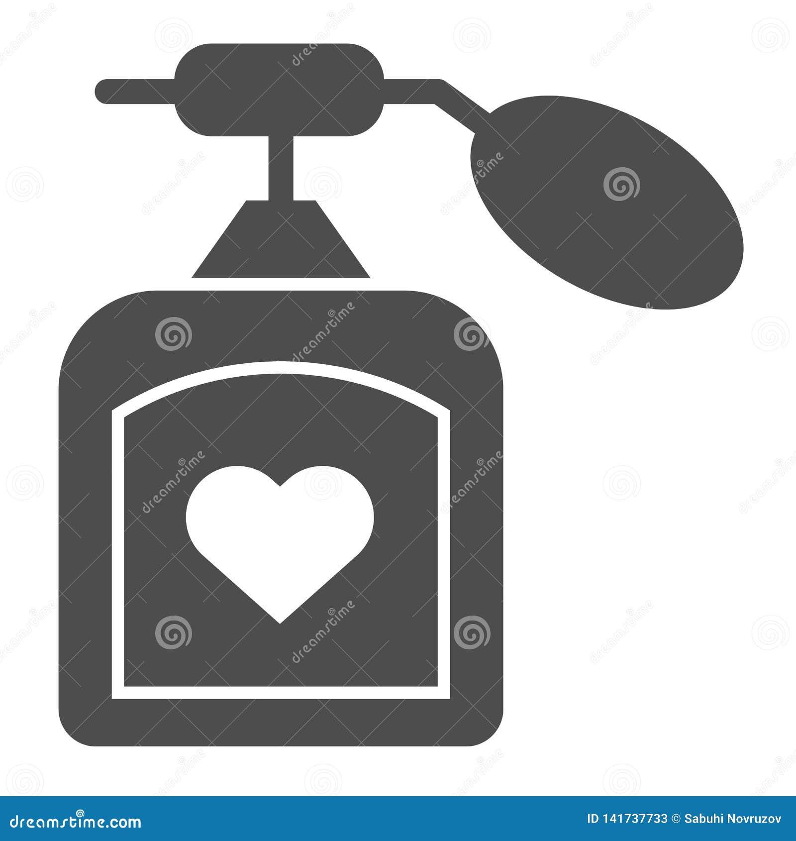 Parfümkörperikone Aromavektorillustration lokalisiert auf Weiß Duft Glyph-Artdesign, bestimmt für Netz und APP