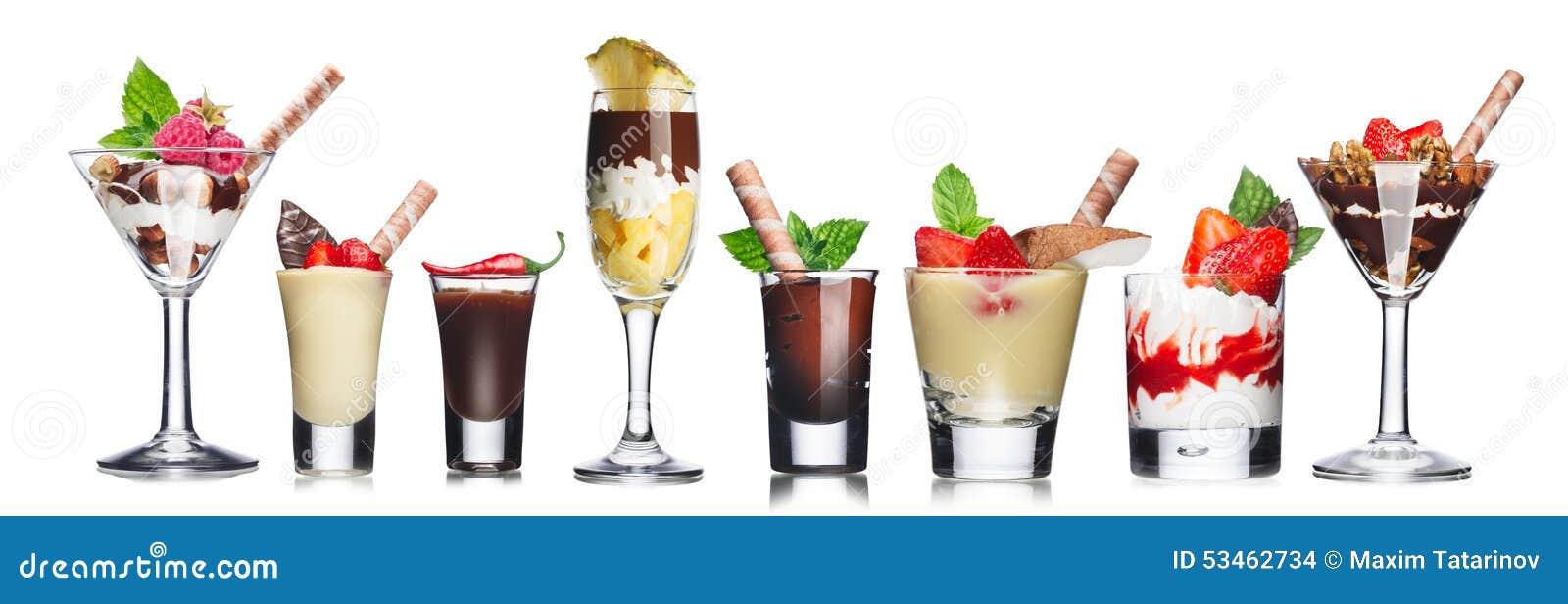 Parfait-layered desserts