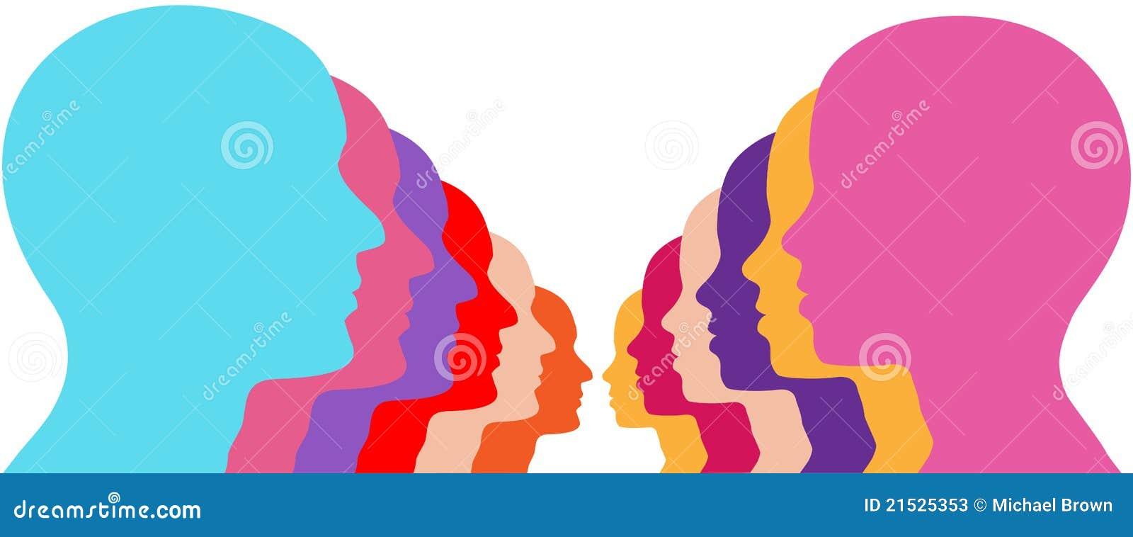Parframsidakvinnlign lines den male folkraden