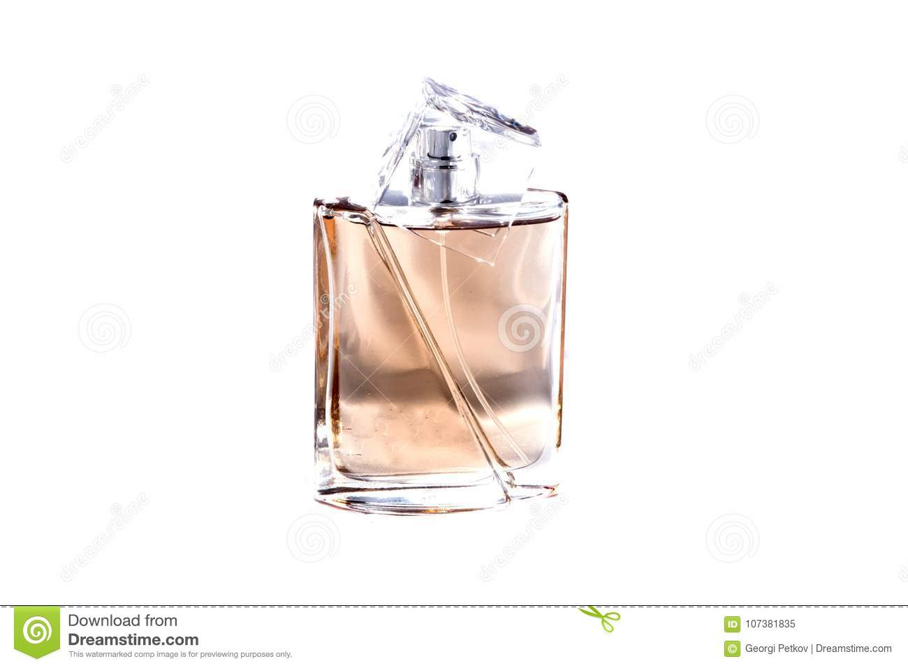 Parfume on a white background
