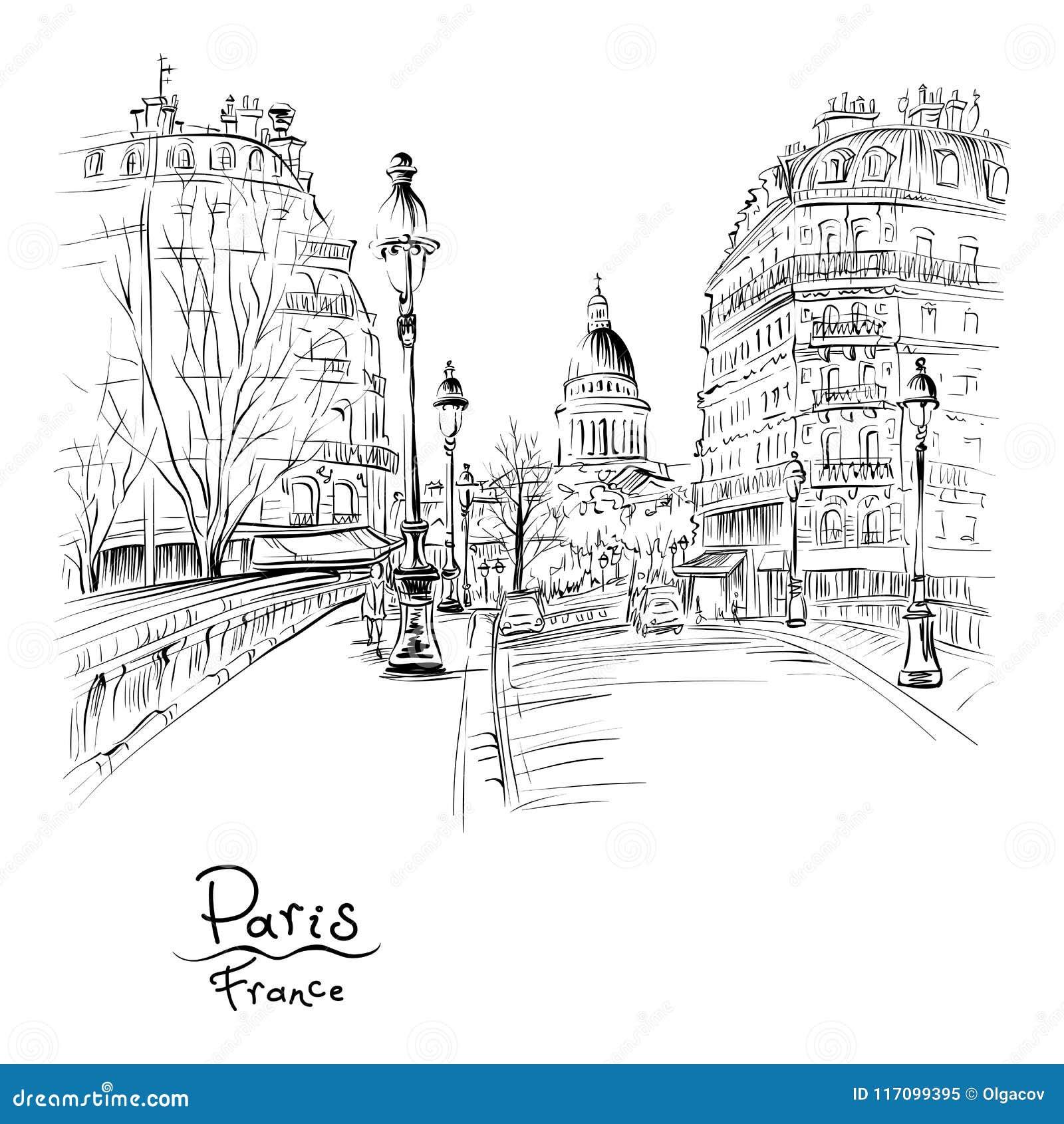 Parijs in de de winterochtend, Frankrijk