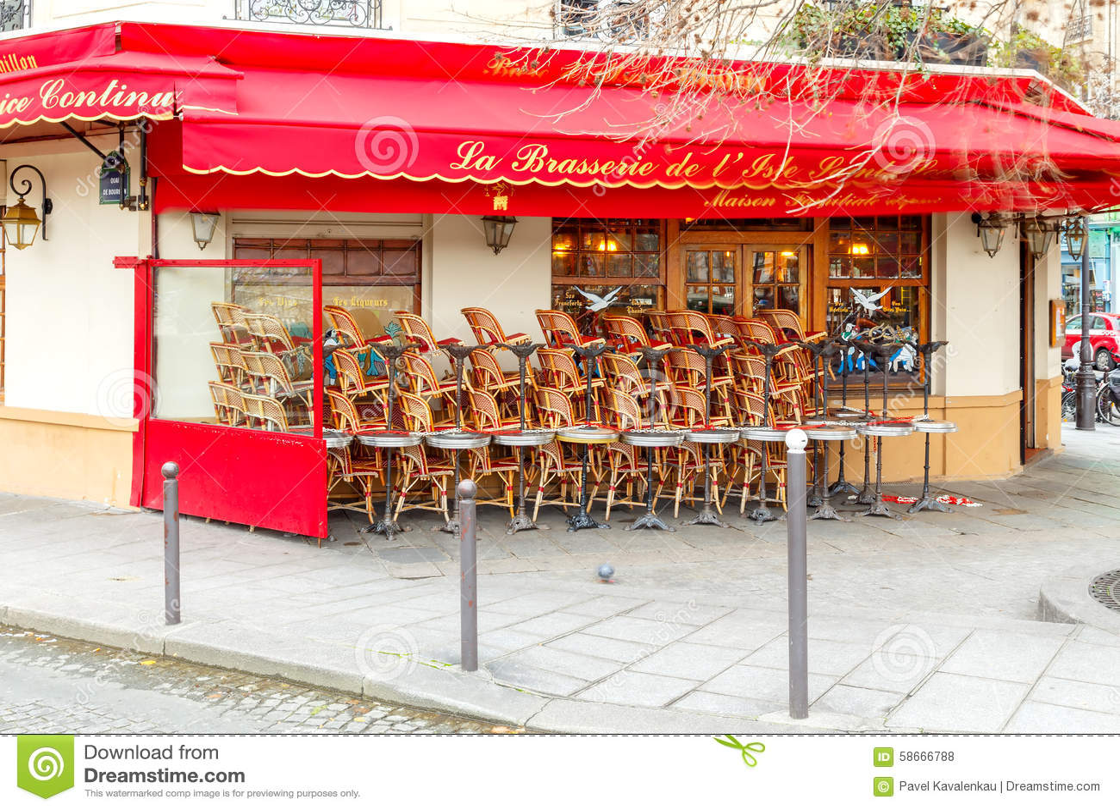 Paris Кафе улицы