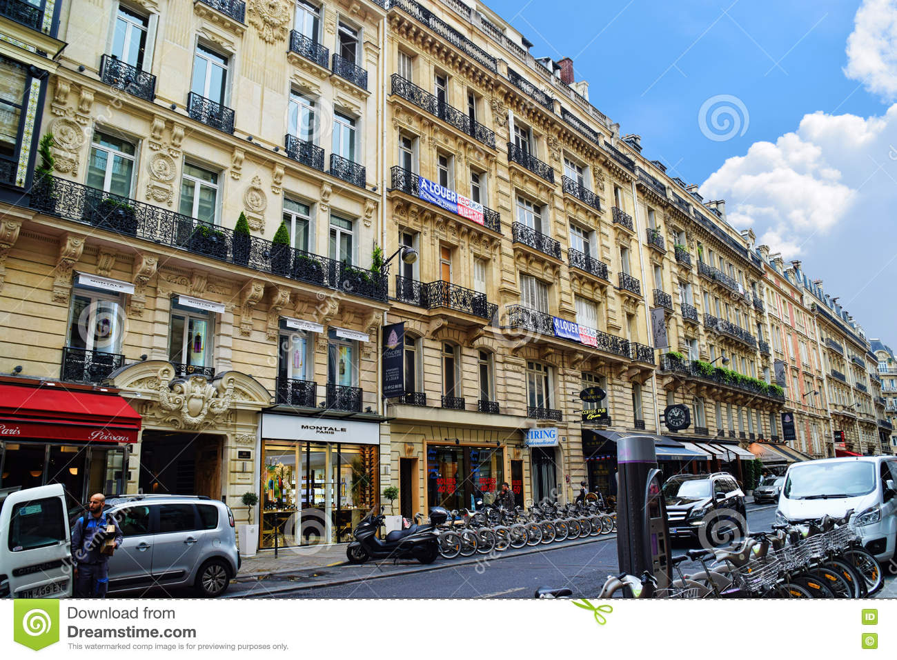 Paris Apartment Housing editorial stock image. Image of ...