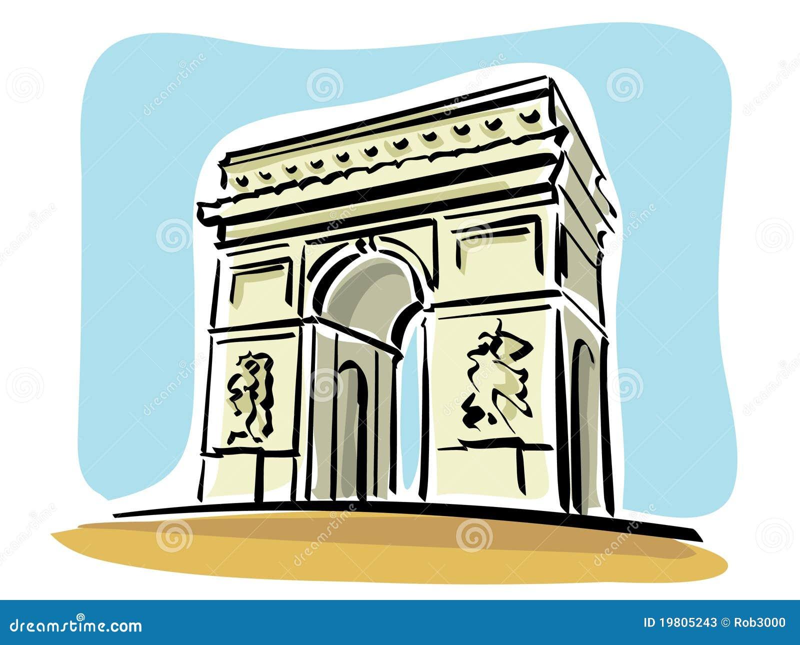 arc de triomphe paris stock illustrations – 168 arc de triomphe