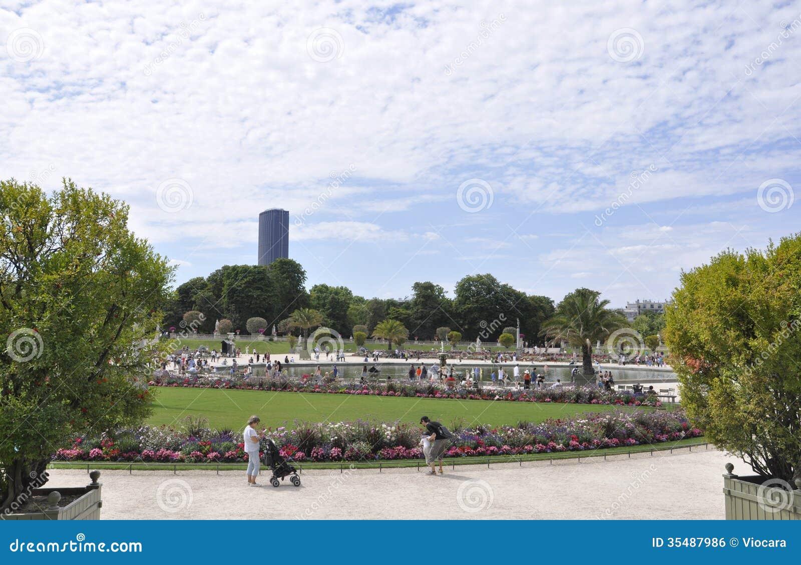 Paris August 15,2013-Luxembourg Garden in Paris