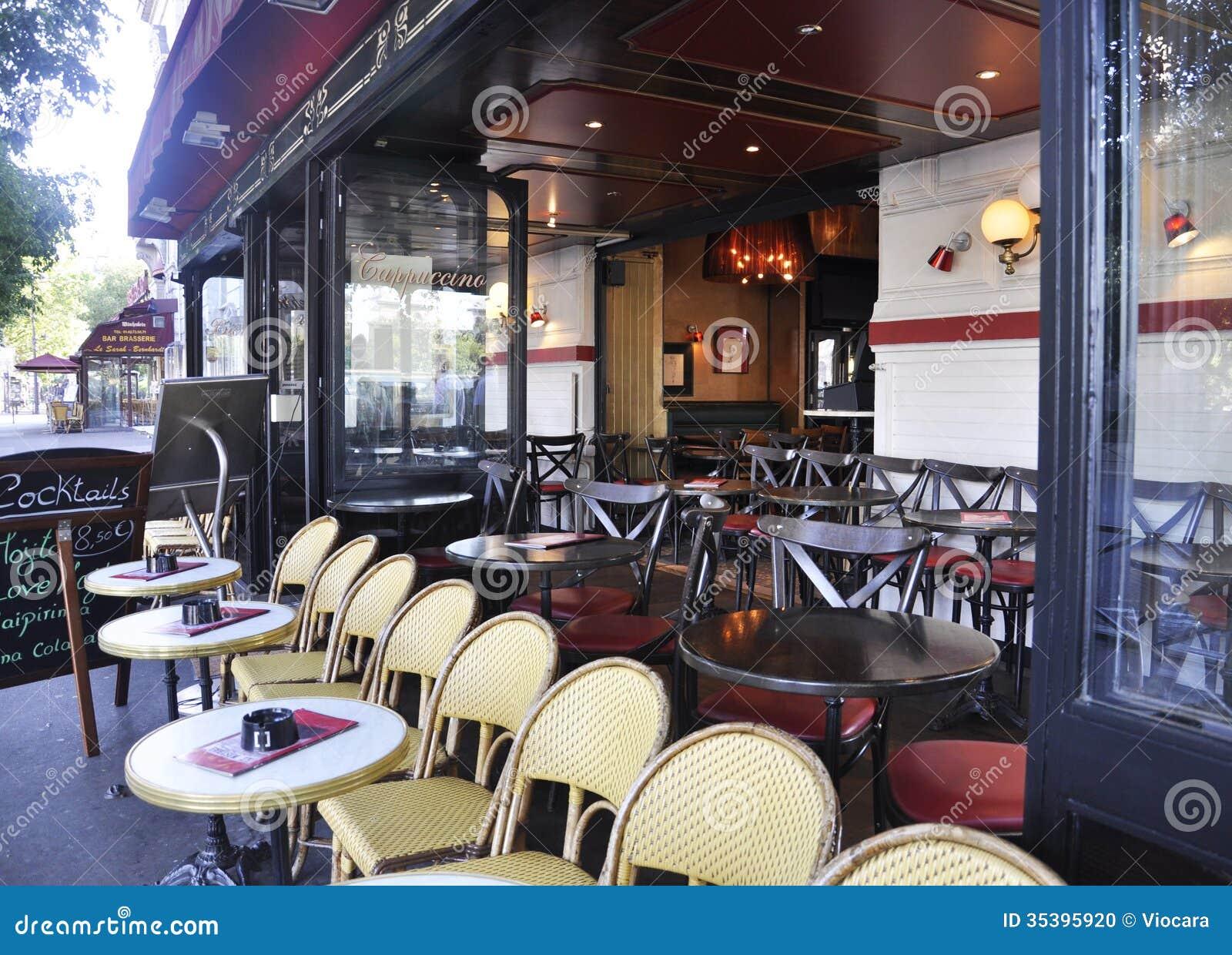 paris august 15 2013 terrace in paris editorial image image 35395920. Black Bedroom Furniture Sets. Home Design Ideas