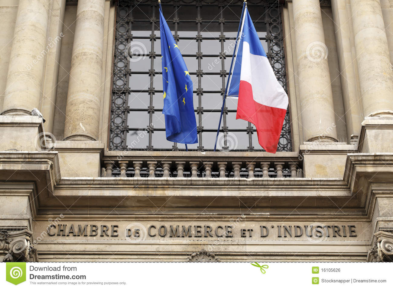 the paris chamber of commerce stock photo image 16105626