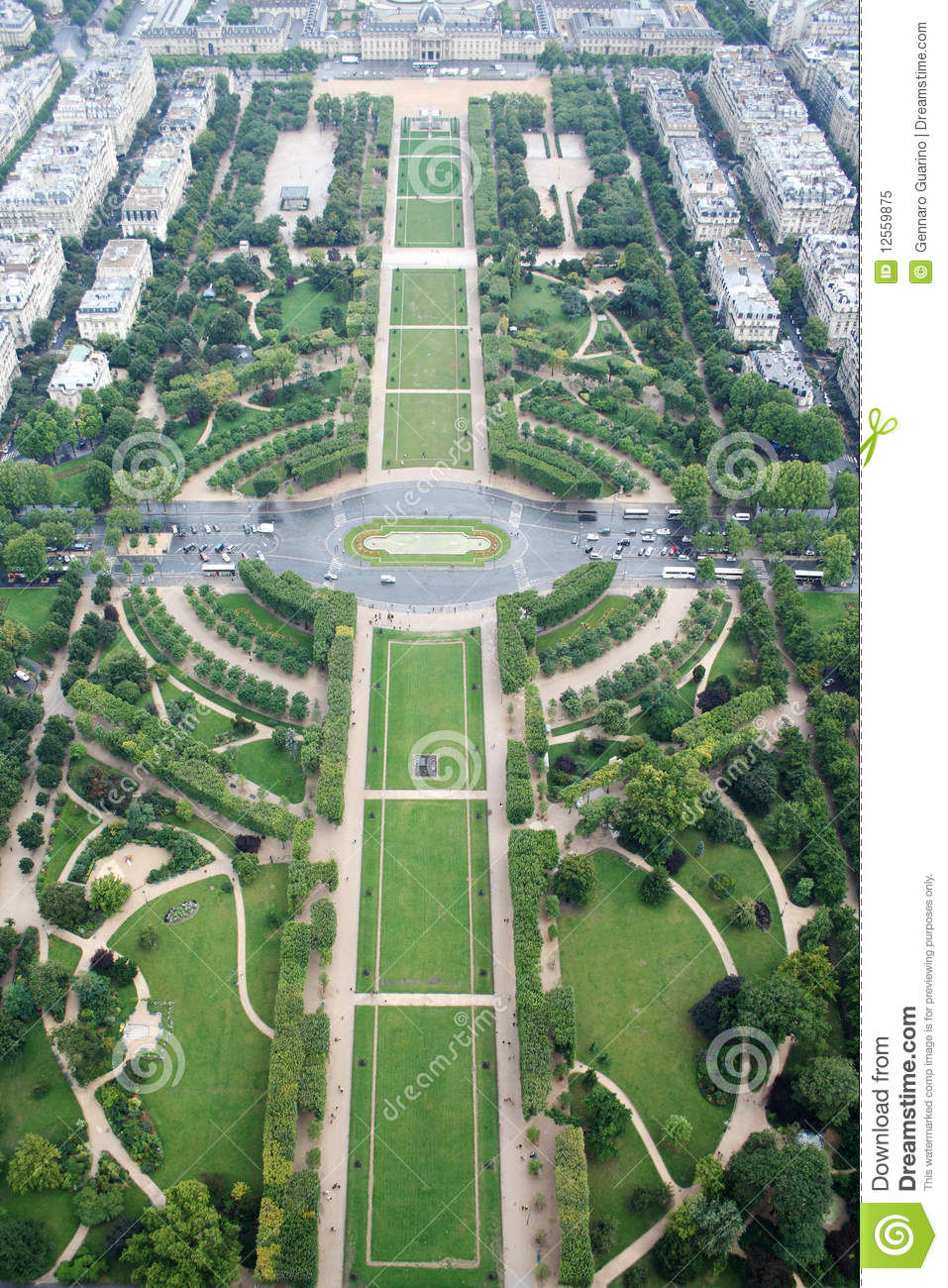 paris champs de mars from the eiffel tower stock image image of fashion bridge 12559875. Black Bedroom Furniture Sets. Home Design Ideas