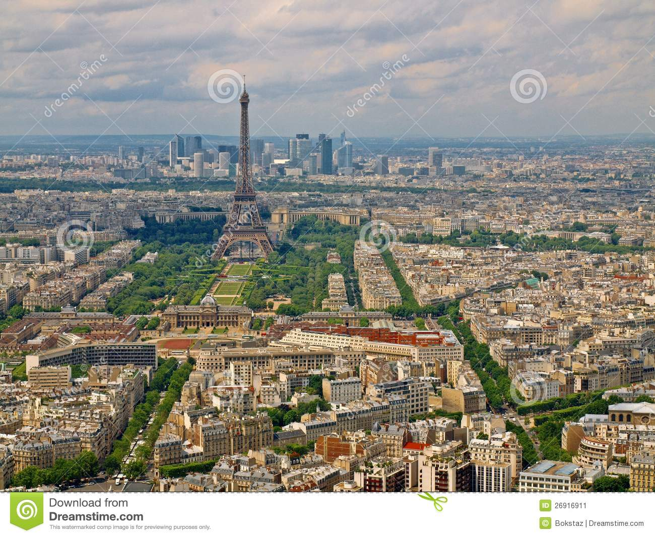 Paris City Aerial View From Montparnasse Tower. Stock ...