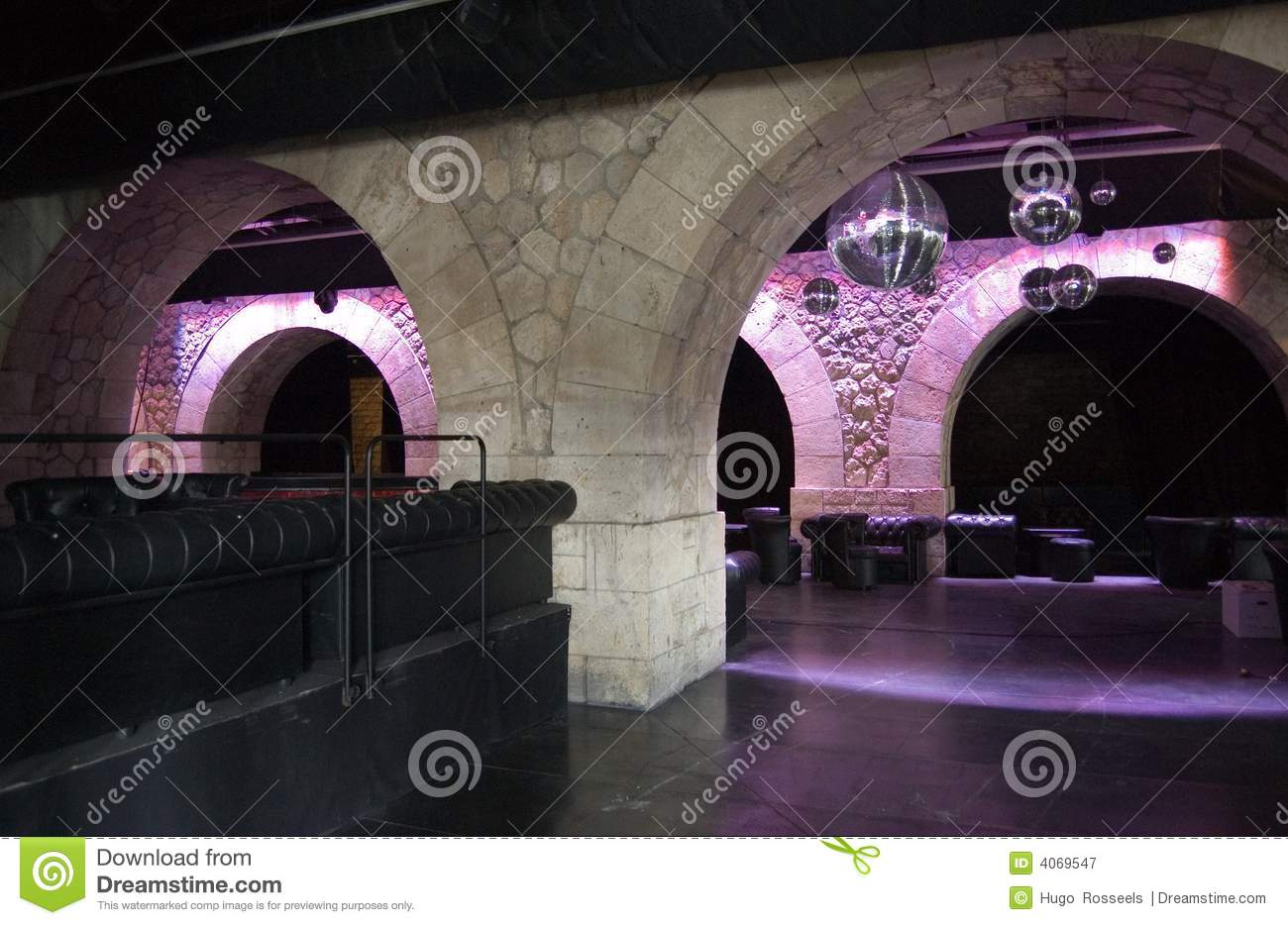 Paris Discotheque under the bridge